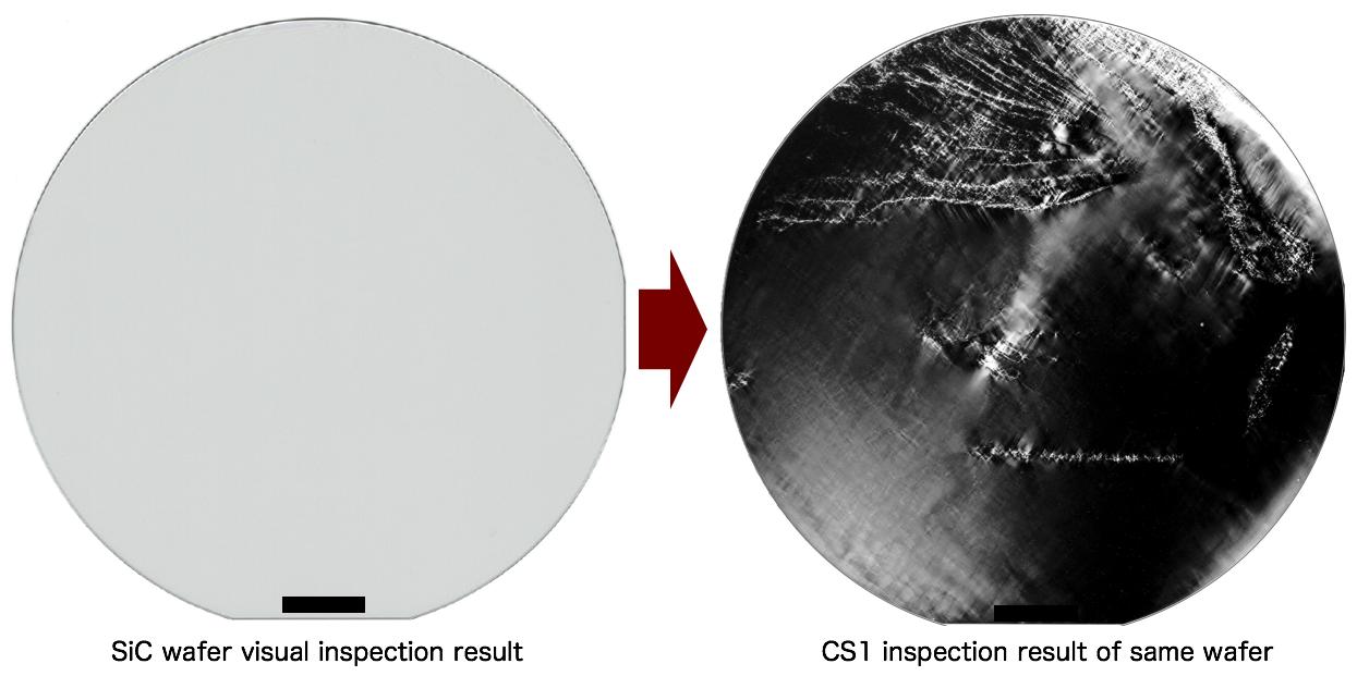 CS1画像と目視画像との比較